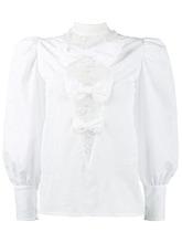 Alessandra Rich | блузка с эффектом помятости и кружевными вставками Alessandra Rich | Clouty