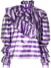 Alessandra Rich | блузка в полоску с оборками  Alessandra Rich | Clouty