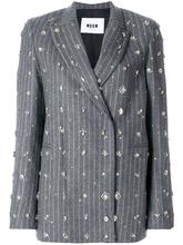 MSGM   декорированный классический пиджак в полоску   Clouty