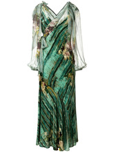 Alberta Ferretti | платье с абстрактным цветочным принтом Alberta Ferretti | Clouty
