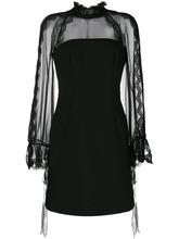 Alberta Ferretti | платье мини с прозрачными рукавами Alberta Ferretti | Clouty