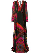 Etro | платье-макси с глубоким V-образным вырезом Etro | Clouty