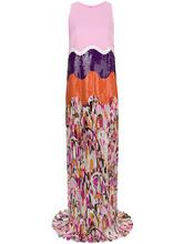 Emilio Pucci | плиссированное платье с пайетками и принтом Emilio Pucci | Clouty