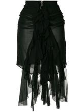 SAINT LAURENT   юбка мини с оборками Saint Laurent   Clouty