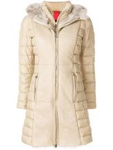 Baldinini | пальто-пуховик с отделкой из меха Baldinini | Clouty