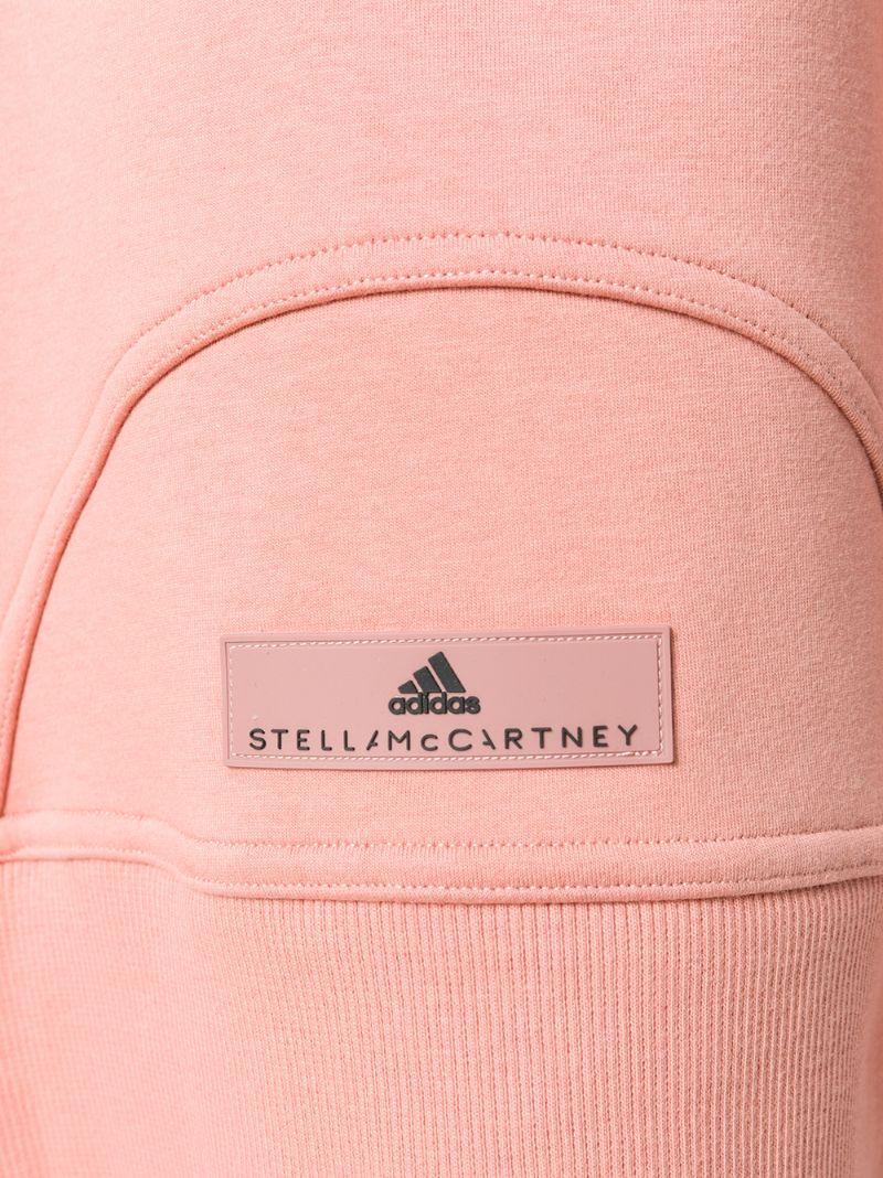 adidas by Stella McCartney | Розовый и фиолетовый худи для йоги с короткими рукавами Adidas By Stella Mccartney | Clouty