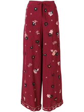 VALENTINO | брюки-палаццо с цветочной вышивкой  Valentino | Clouty