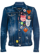 DSQUARED2   джинсовая куртка с заплатками   Clouty