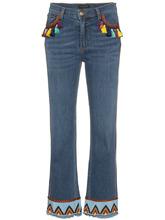 Etro | джинсы с кисточками и вышивкой Etro | Clouty