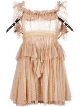 DSQUARED2   прозрачное платье с оборками Dsquared2   Clouty