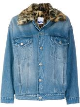 SJYP | джинсовая куртка с леопардовым воротником SJYP | Clouty