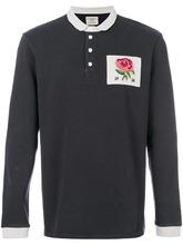 Kent & Curwen   футболка-поло с принтом розы Kent & Curwen   Clouty