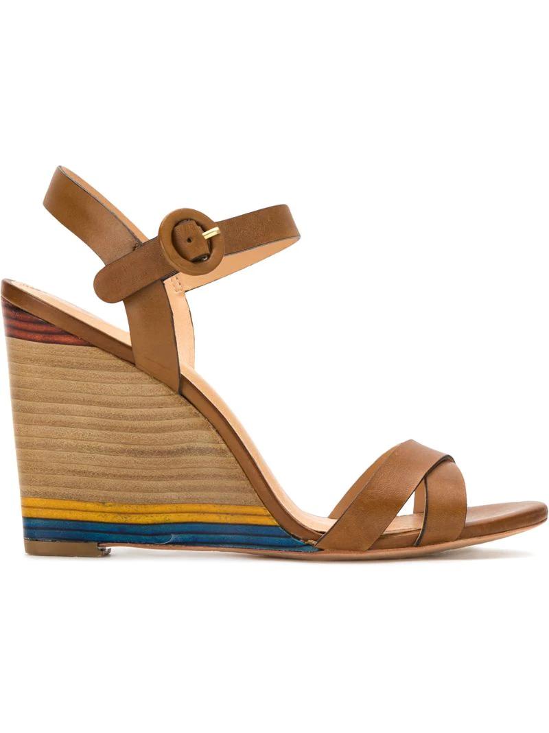Serpui | Коричневый wedge sandals Serpui | Clouty