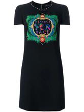 Versace | платье с вышитым логотипом Versace | Clouty