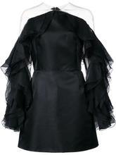 Marchesa   приталенное платье с оборками на рукавах  Marchesa   Clouty