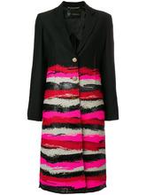 Versace | однобортное пальто с принтом Versace | Clouty