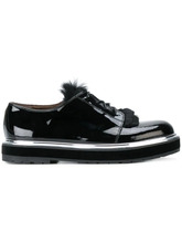 AGL | туфли-лодочки со шнуровкой и меховой отделкой Agl | Clouty