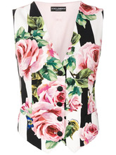 Dolce & Gabbana   жилетка с принтом роз Dolce & Gabbana   Clouty