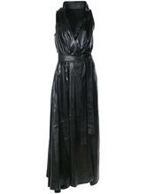 Ann Demeulemeester | платье с V-образным вырезом и поясом Ann Demeulemeester | Clouty
