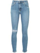 Nobody Denim | укороченные джинсы скинни с эффектом потертости Nobody Denim | Clouty