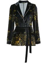 Alberta Ferretti | бархатный пиджак с поясом Alberta Ferretti | Clouty