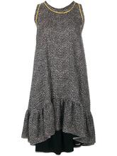 FENDI   расклешенное платье с оборками на подоле Fendi   Clouty