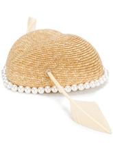 GUCCI | шляпа с отделкой из искусственного жемчуга | Clouty