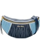 MIU MIU | двухцветная сумка на пояс Miu Miu | Clouty