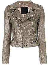 Philipp Plein | байкерская куртка с блестящей отделкой Philipp Plein | Clouty