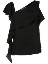 Goen.J   блузка с V-образным вырезом с рюшами Goen.J   Clouty