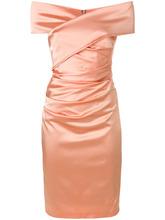 Talbot & Runhof | платье с открытыми плечами и сборками Talbot Runhof | Clouty