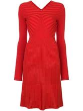 Victoria Beckham | платье с V-образным вырезом с ребристой фактурой Victoria Beckham | Clouty