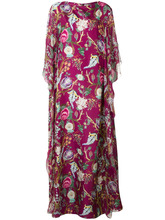 Alberta Ferretti | расклешенное платье в пол с цветочным принтом Alberta Ferretti | Clouty