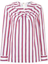 MSGM | полосатая блузка с перекрученной деталью | Clouty