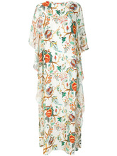 Alberta Ferretti | длинное платье  с цветочным принтом Alberta Ferretti | Clouty