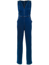 Tufi Duek | slim fit denim jumpsuit | Clouty