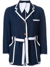 Thom Browne | приталенный пиджак с контрастной окантовкой Thom Browne | Clouty