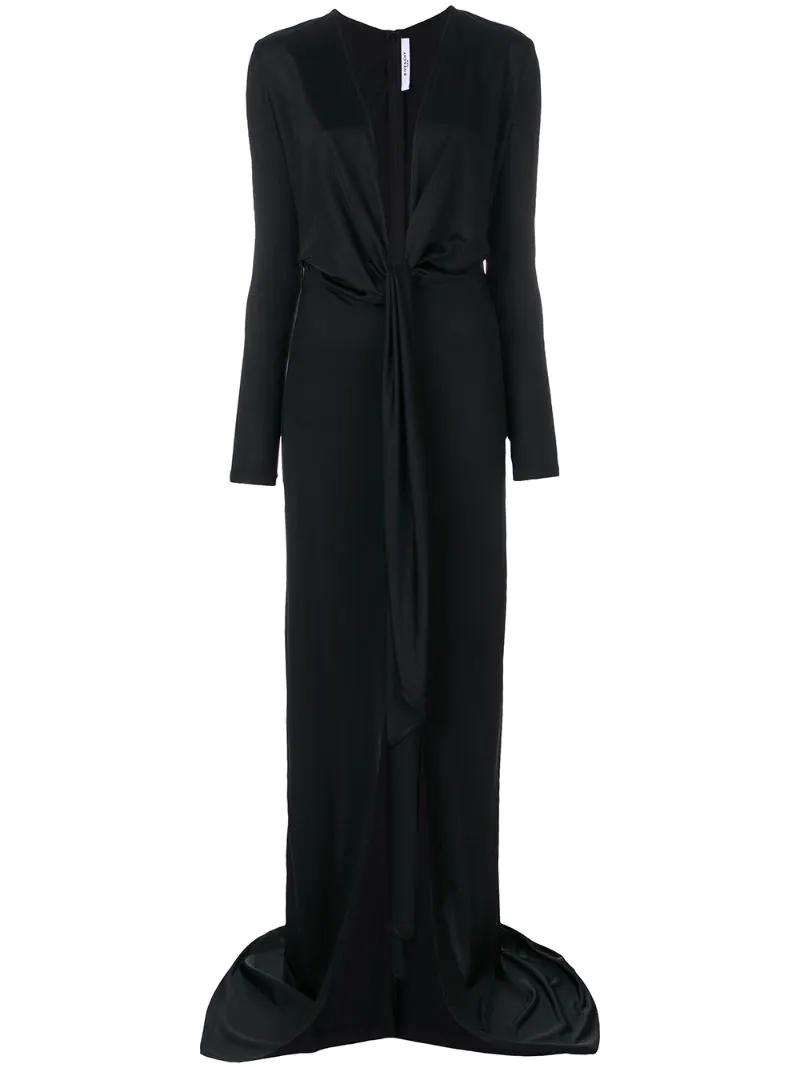 GIVENCHY | Чёрный вечернее платье с глубоким вырезом Givenchy | Clouty