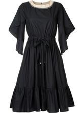 FENDI   расклешенное платье с оборками Fendi   Clouty