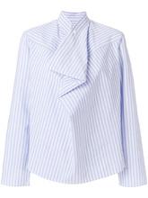 MM6 Maison Margiela   полосатая асимметричная рубашка Mm6 Maison Margiela   Clouty