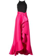 Badgley Mischka   каскадное платье  Badgley Mischka   Clouty