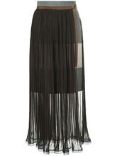 Kolor | плиссированная юбка с поясом Kolor | Clouty