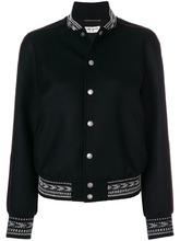 SAINT LAURENT   куртка-бомбер 'Ikat' с декоративной оторочкой Saint Laurent   Clouty