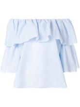 Blugirl Blumarine   блузка в полоску с оборками  Blugirl   Clouty