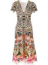 Temperley London | платье с принтом и глубоким вырезом  Temperley London | Clouty