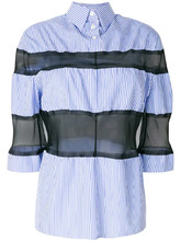 Maison Margiela | рубашка с прозрачными полосками Maison Margiela | Clouty
