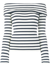 P.A.R.O.S.H. | свитер в полоску с открытыми плечами  P.A.R.O.S.H. | Clouty