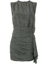 SAINT LAURENT   платье шифт с узором в горох Saint Laurent   Clouty