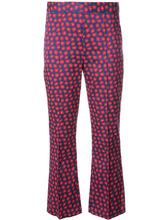 Alice + Olivia | укороченные брюки с принтом Alice+Olivia | Clouty