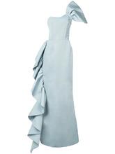 Christian Siriano   вечернее платье на одно плечо с оборками Christian Siriano   Clouty